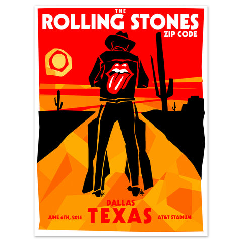Rolling Stones Dallas Cowboy Event Lithograph