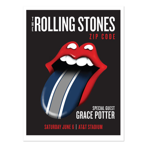 Rolling Stones - Grace Potter Dallas Event Lithograph