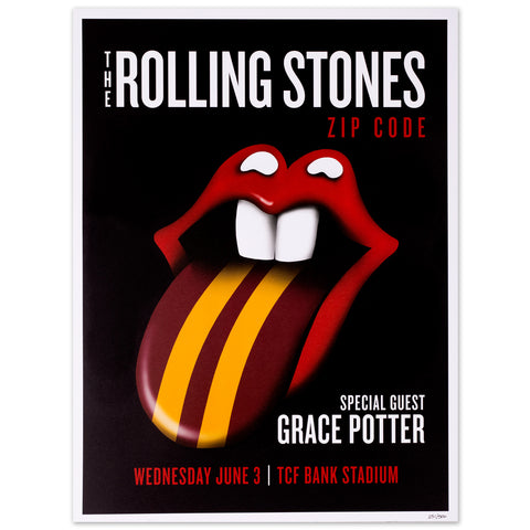 Rolling Stones - Grace Potter Minneapolis Event Lithograph