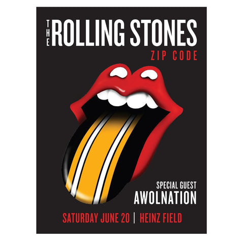 The Rolling Stones - AWOLNATION Pittsburgh Event Lithograph