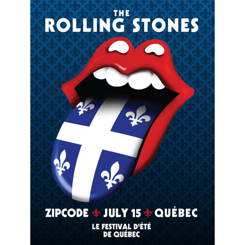 The Rolling Stones Quebec Event Lithograph