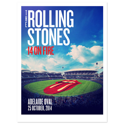 Rolling Stones Adelaide Oval Lithograph