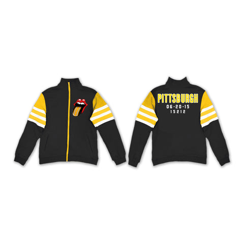 Rolling Stones Pittsburgh Event Striped Sleeve Track Jacket