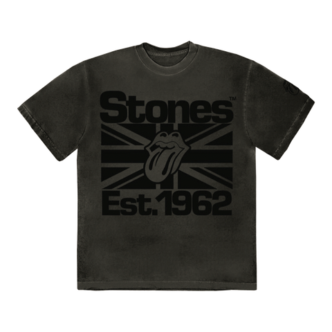 Black on Black Union Jack Lick T-Shirt