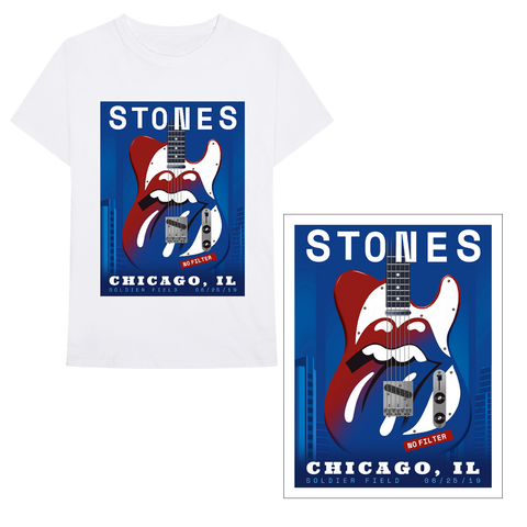 Blues Chicago T-Shirt + Lithograph