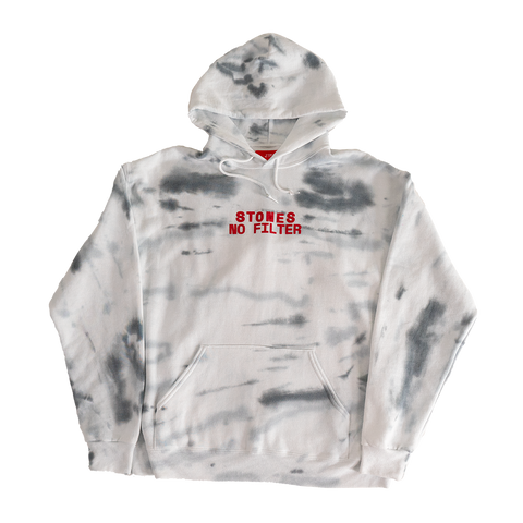 Marble Wash Stucco Print Tongue Hoodie