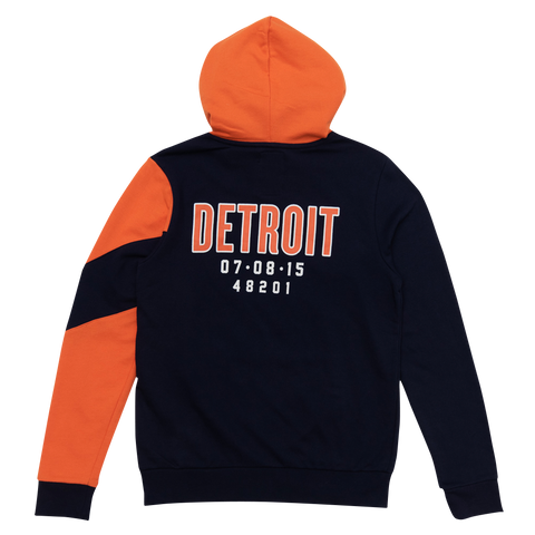 Rolling Stones Detroit Event Color Block Pullover Hoodie