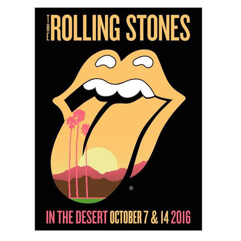 Rolling Stones In The Desert Event Lithograph