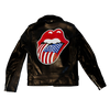 US Flag Hand Painted Leather Schott Jacket