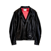 Logo Black Leather Jacket