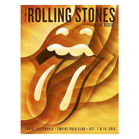 Rolling Stones In The Desert Lithograph