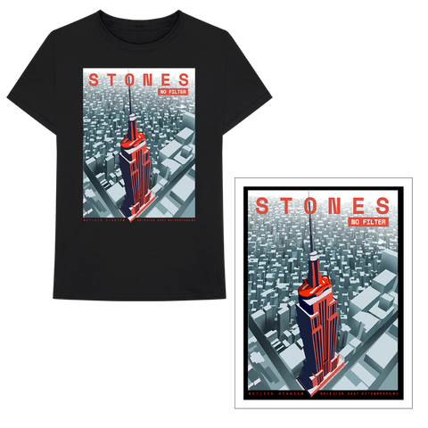 East Rutherford Empire State Building T-Shirt + Lithograph