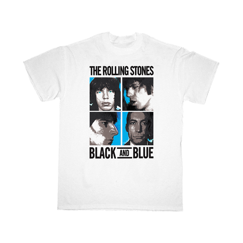Black and Blue White T-Shirt