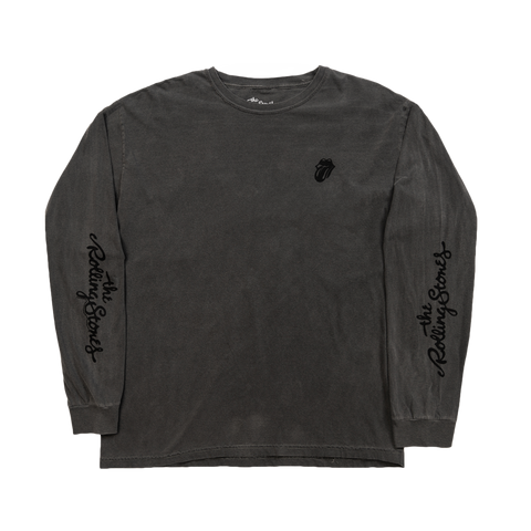 Black on Black Washed Long Sleeve Shirt
