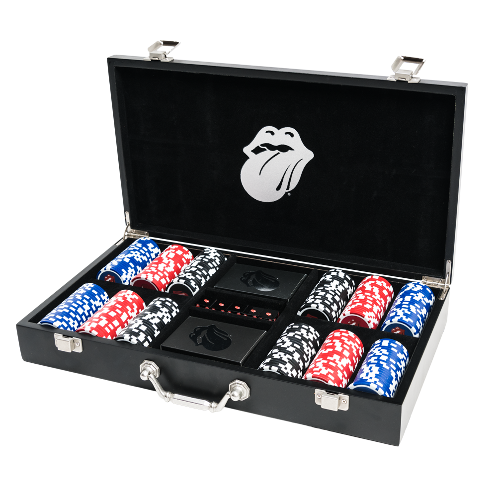 """Casino Boogie"" Poker Set – The Rolling Stones"