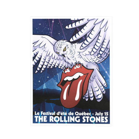 Rolling Stones Quebec Event Lithograph