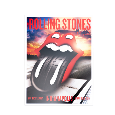Rolling Stones Indianapolis Event Poster