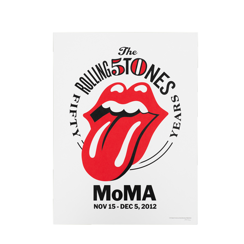 Rolling Stones 50th Anniversary MoMA Event Poster
