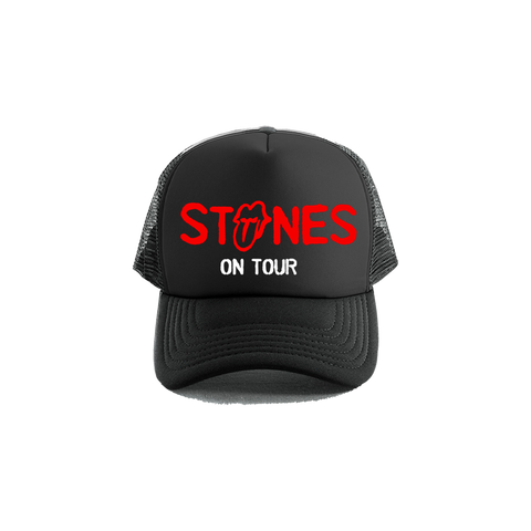 Stones On Tour Black Trucker Hat
