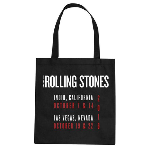 Rolling Stones Black Tour Tote Bag