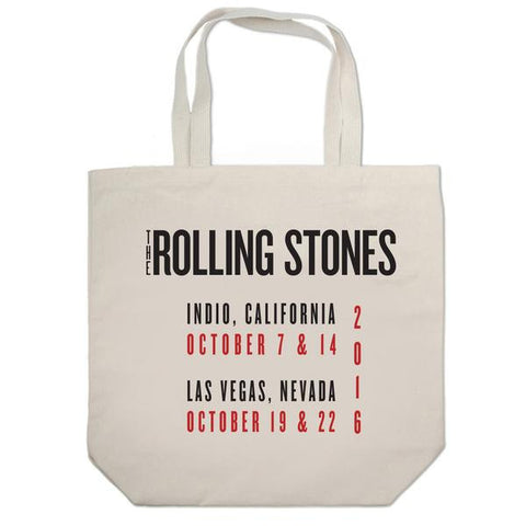 Rolling Stones White Tour Tote Bag
