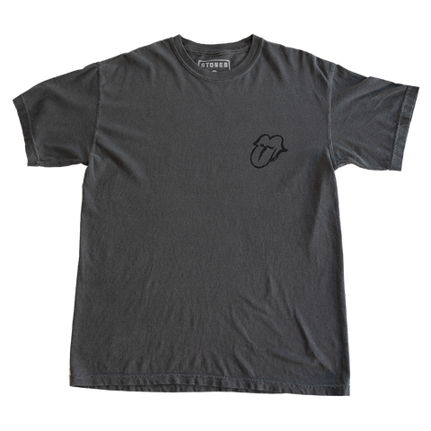 Black on Black Charcoal No Filter Licks T-Shirt