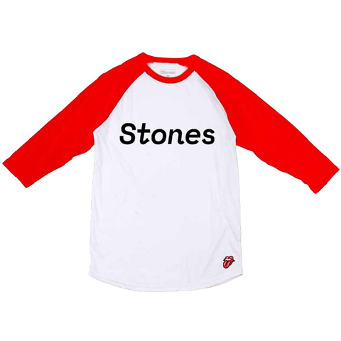 Stones Red White Raglan