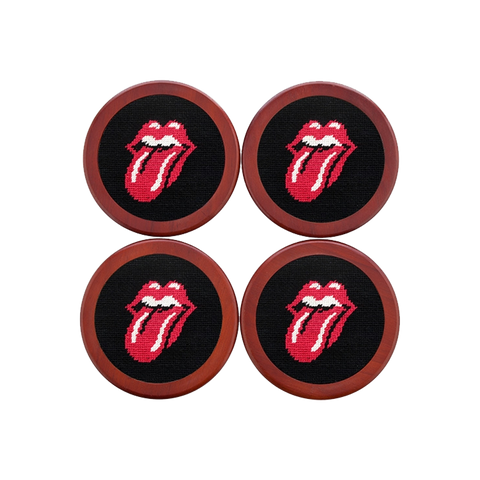 Rolling Stones Needlepoint Coaster Set