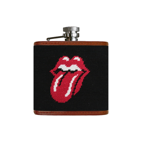 Rolling Stones Needlepoint Flask