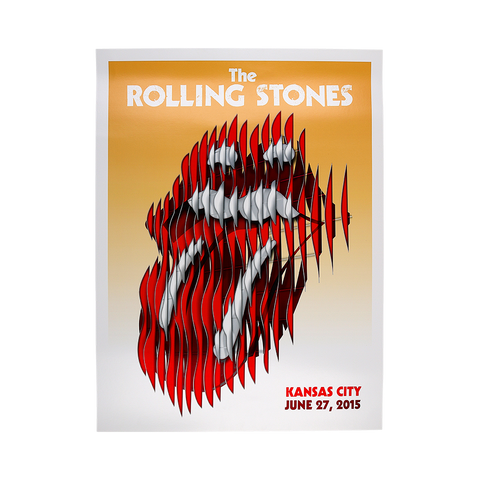Rolling Stones Kansas City Event Lithograph