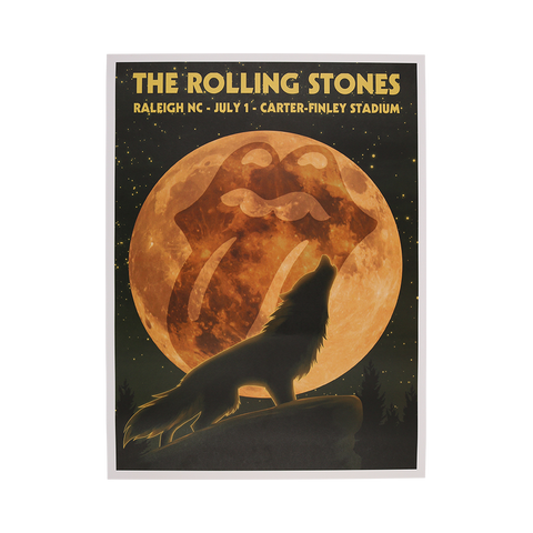 Rolling Stones Raleigh Event Lithograph