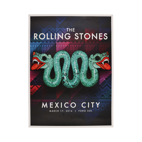 Mexico City Serpent Lithograph