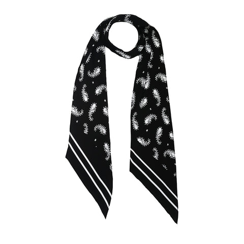 Black and White Classic Skinny Scarf