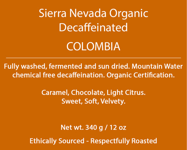 Colombia Sierra Nevada Organic Decaf