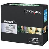 Genuine Lexmark Brand 12A7460 Black Toner Cartridge - Blue Dot Toner