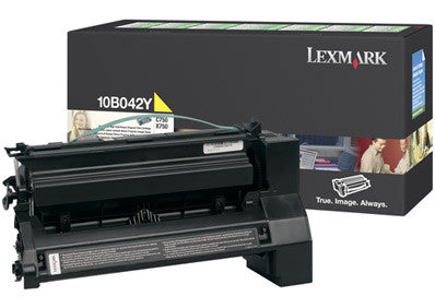 Genuine Lexmark Brand 10B042Y C750 Yellow Prebate High Yield