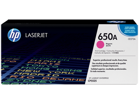 Genuine HP 650A CE273A Magenta LaserJet Toner Cartridge