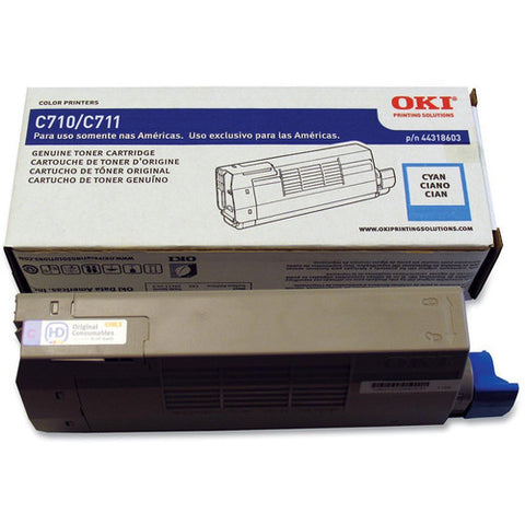 Genuine OKI Brand C710, C711 44318603 Toner Cartridge Cyan
