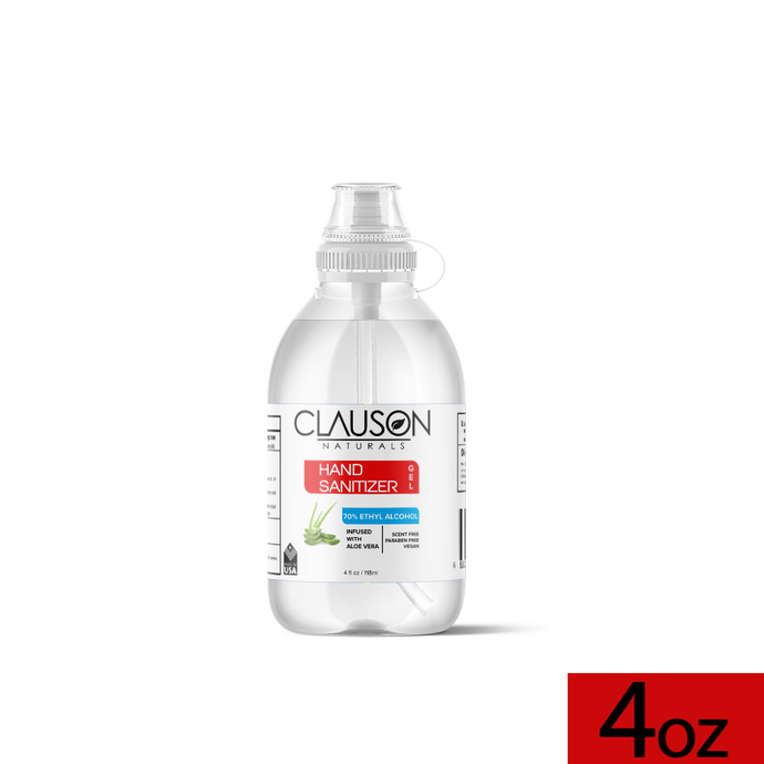 Grab & Go Hand Sanitizer Gel Infused with Aloe - 4oz/118ml size with Easy Flip Cap