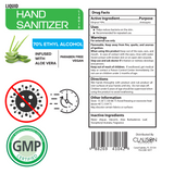 Grab & Go Hand Sanitizer Spray Infused with Aloe - 4oz (24-Pack Case)