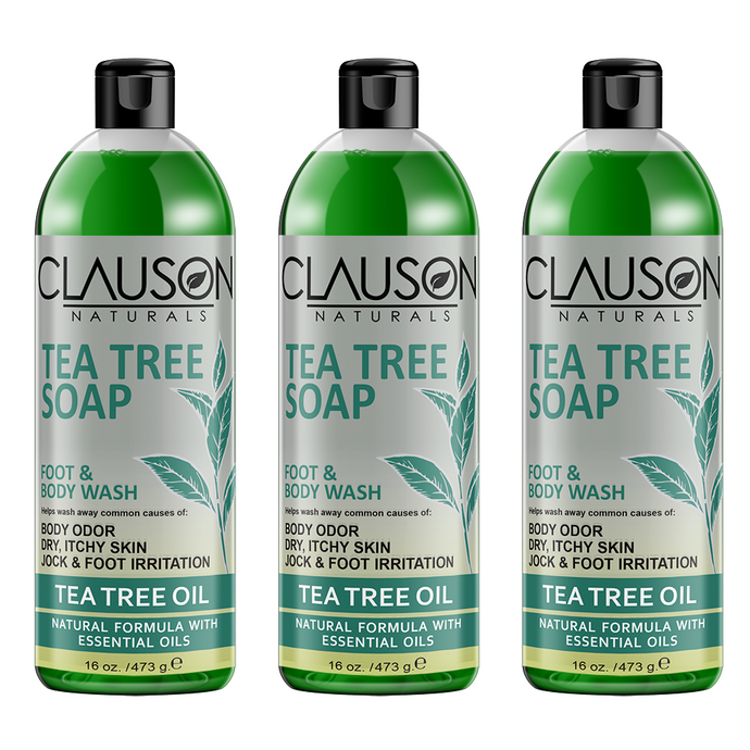 Organic tea tree body wash