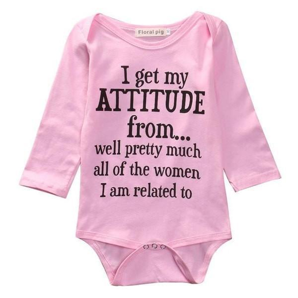 Attitude Baby Girl Romper - Baby Clothing - Kids Town