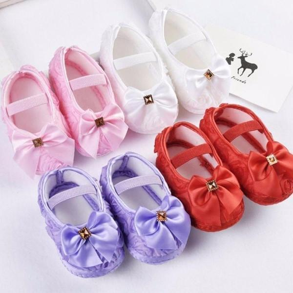 Bow Flower Baby Princess Shoes - Baby Footwear - Kids Town