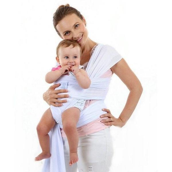 faafdb567fb Breathable Baby Wrap Ring Sling-Baby Carrier-White-KidsTown