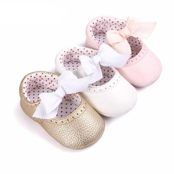 Butterfly-Knot Baby Moccasins - Baby Footwear - Kids Town
