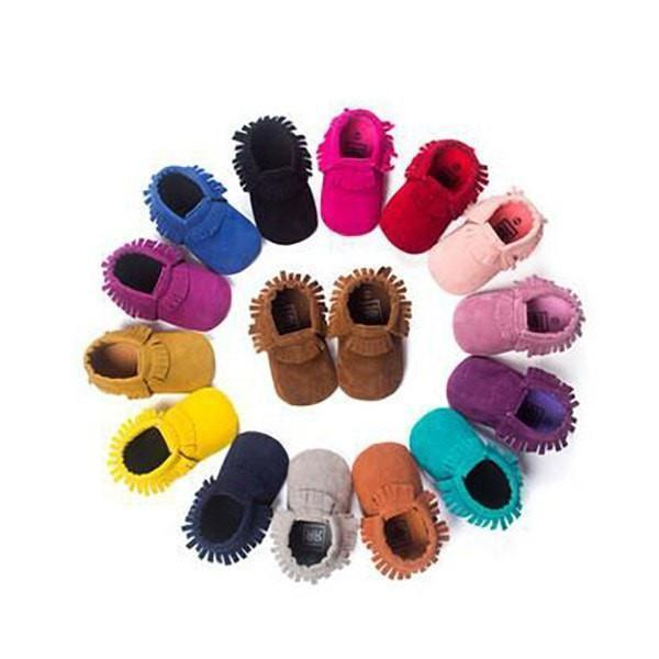 Cosy Soft Suede Baby Moccasins - Baby Footwear - Kids Town