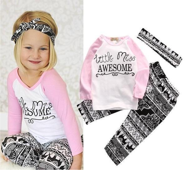 Little Miss Awesome 3pc Set - Baby Clothing - Kids Town
