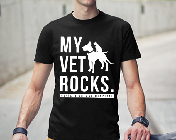 My Vet Rocks T-Shirt (BLACK)