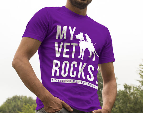 My Vet Rocks T-Shirt (PURPLE)