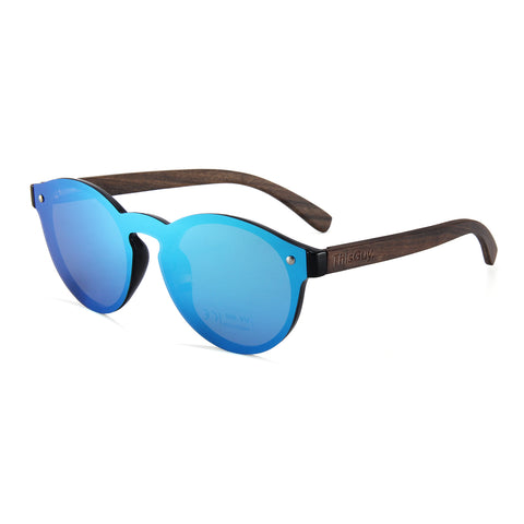 Zebra Wood Fighter Sunglasses (Black)